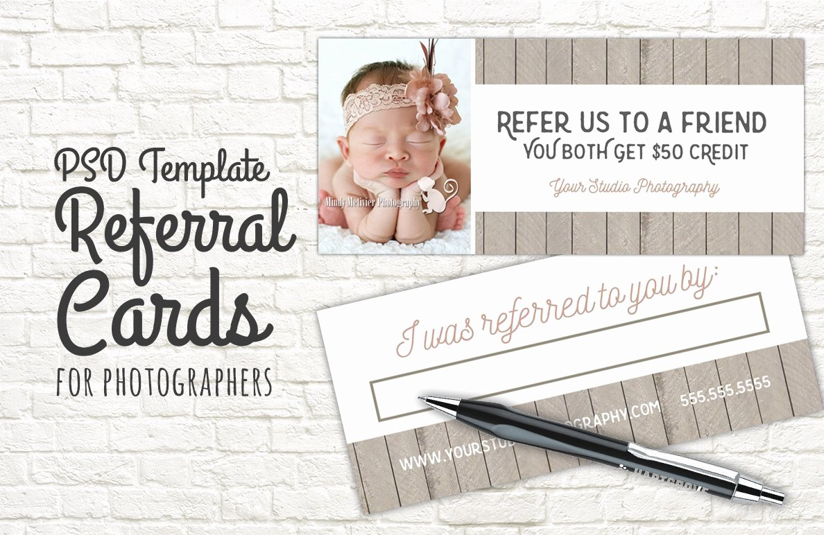Referral Card Template Free Lovely Referral Card Template Graphy Templates Creative