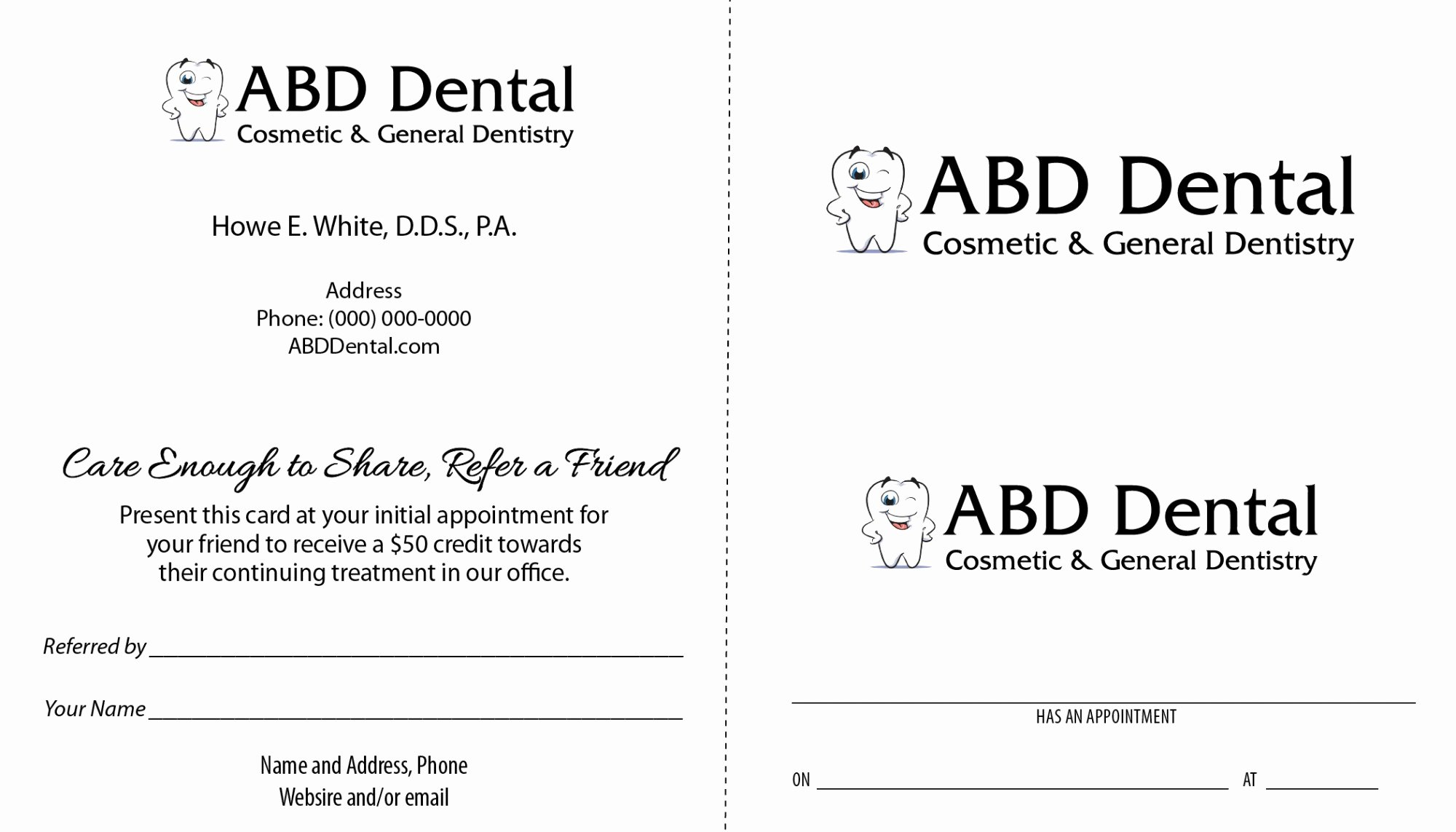 Referral Card Template Free Unique Dental Care to Referral Program Samples