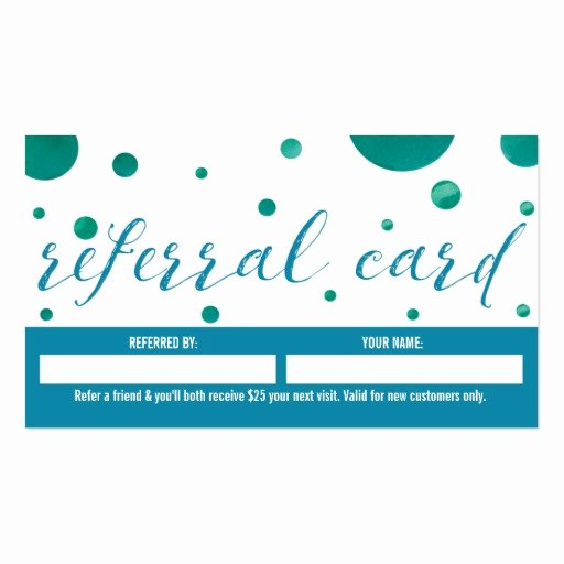 Referral Card Template Free Unique Dentist Referral Business Card