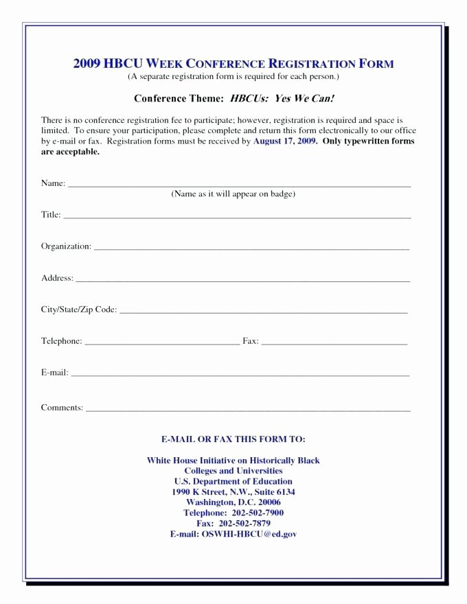 Registration form Template Word Awesome Conference Registration Receipt format Sign Up form