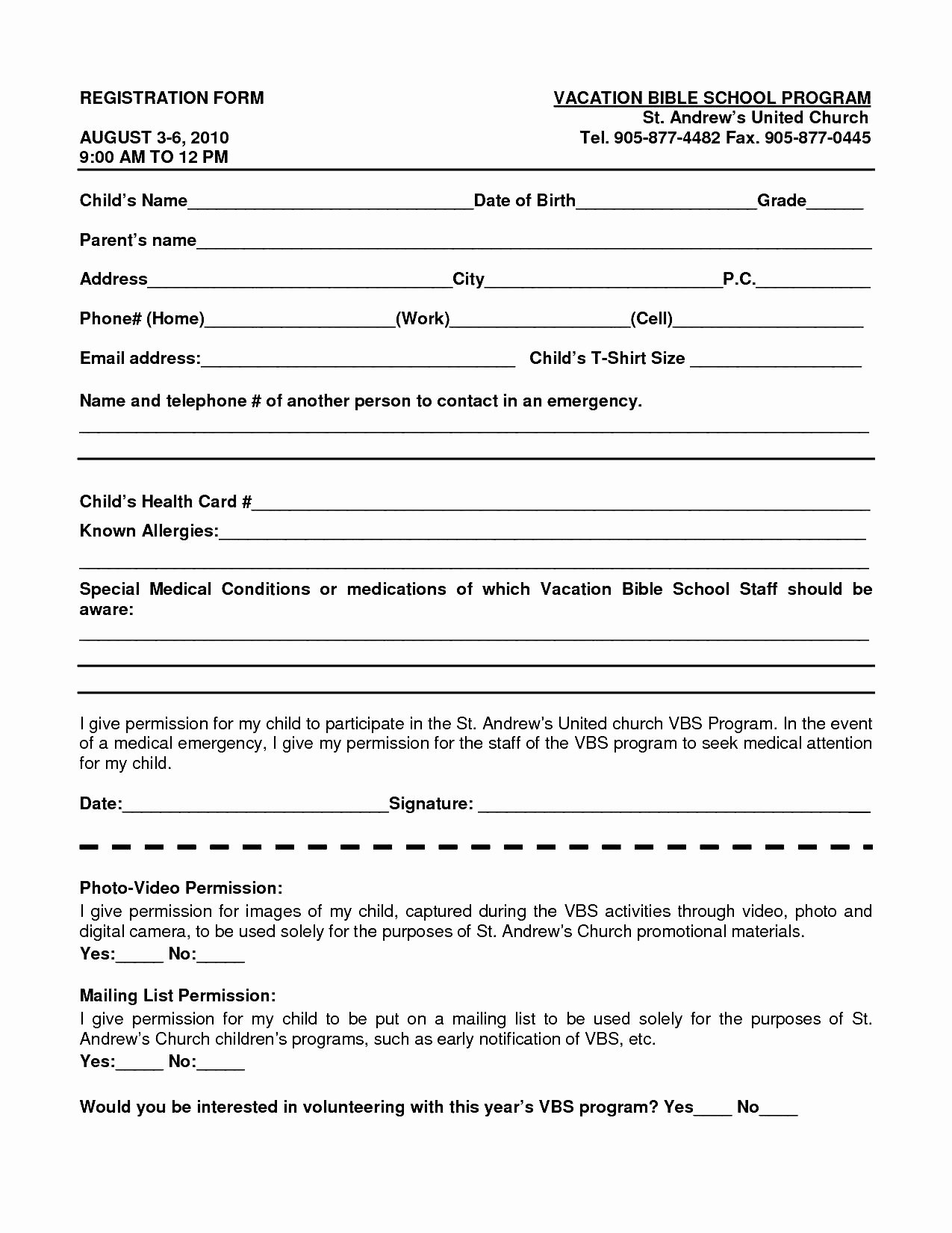 Registration form Template Word Awesome School Register form Template