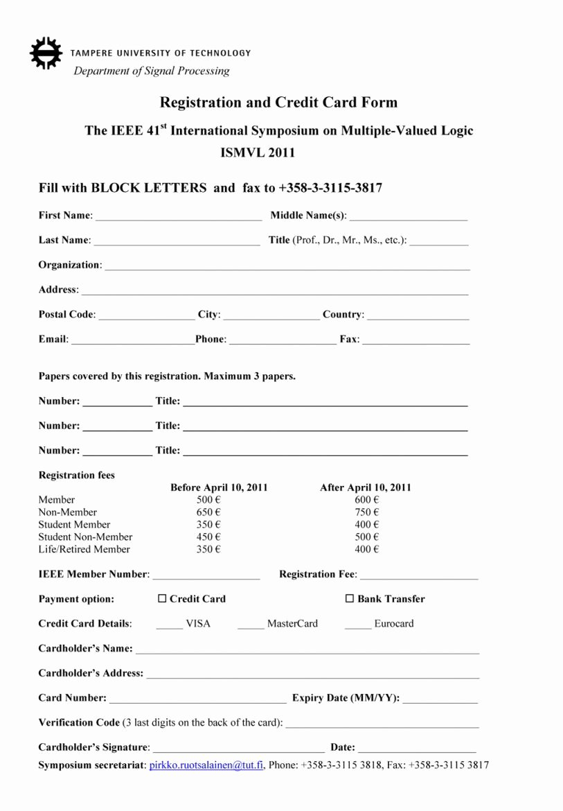 Registration form Template Word New event Registration form Template Word