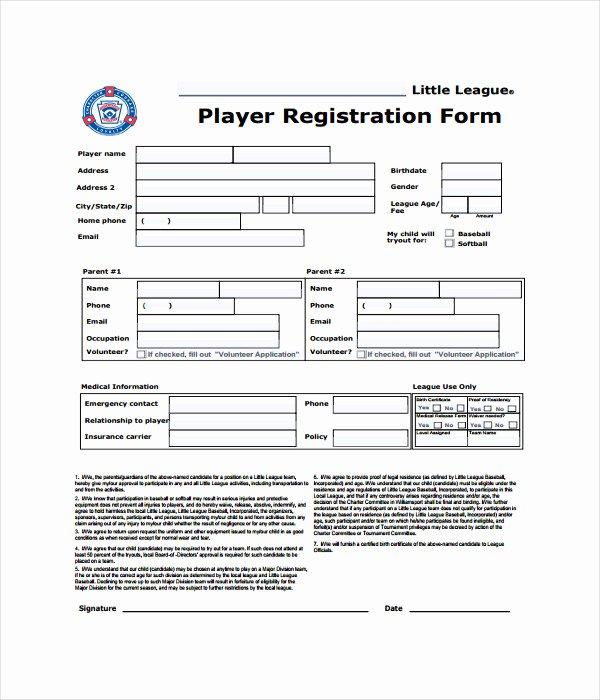 Registration form Template Word Unique 11 Registration form Templates Free Word Pdf Documents