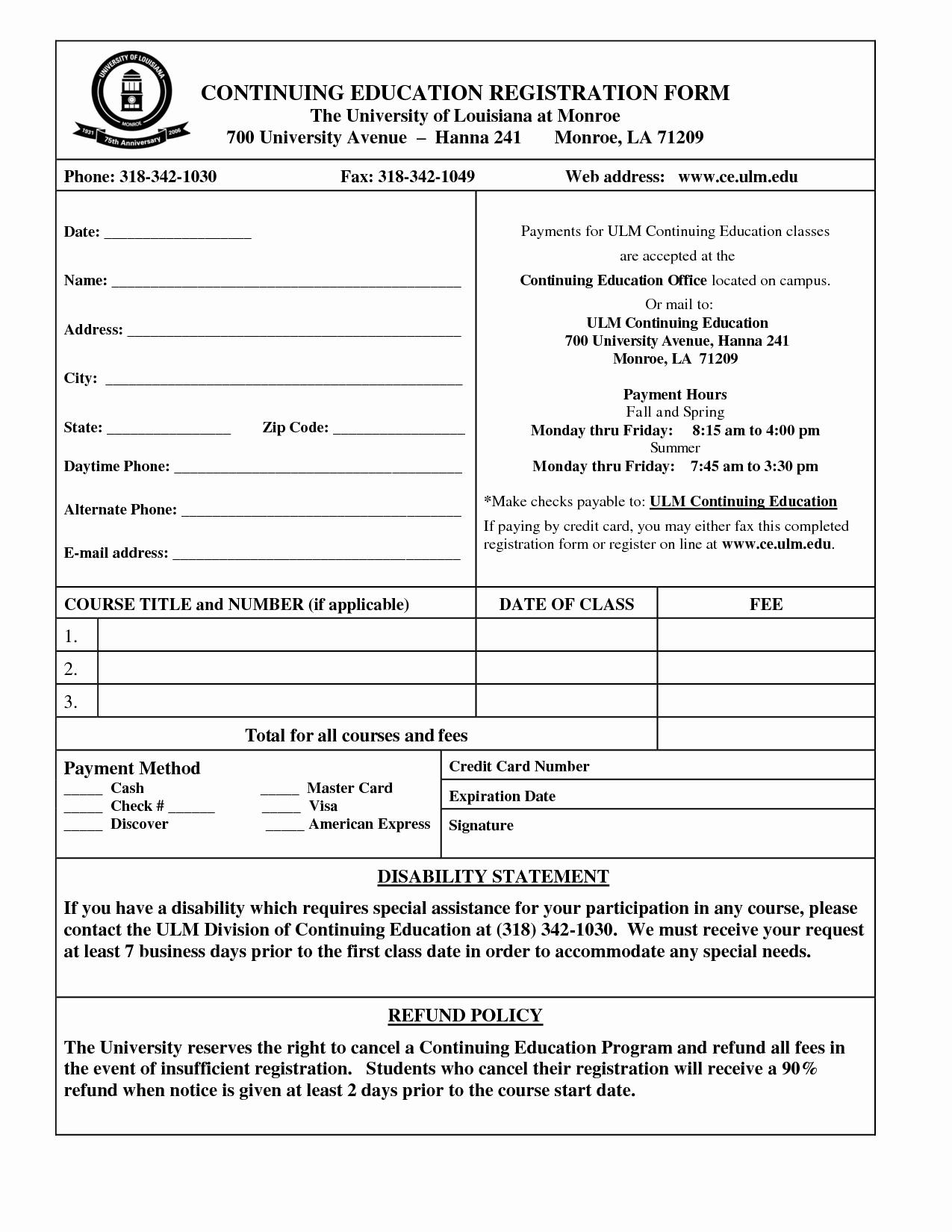 Registration form Template Word Unique Student Application form Template Portablegasgrillweber