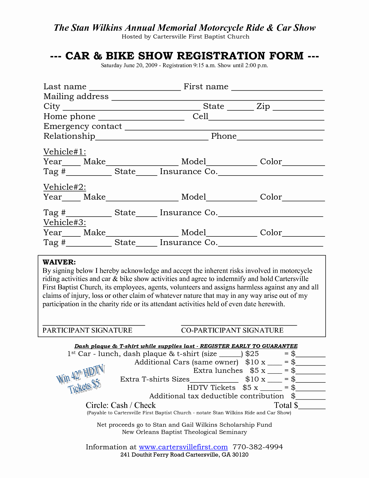 Registration forms Template Word Awesome Car Show Registration form Templates Find Word Templates