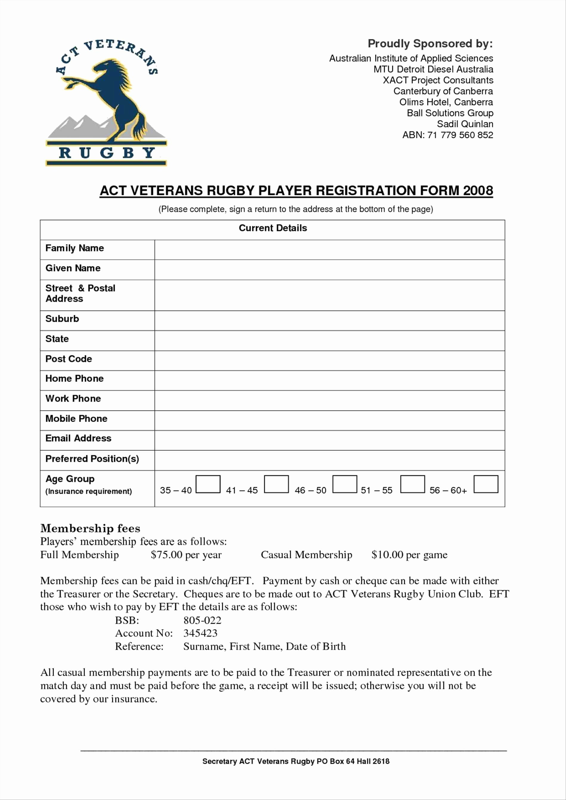 Registration forms Template Word Best Of Free Registration form Template Word