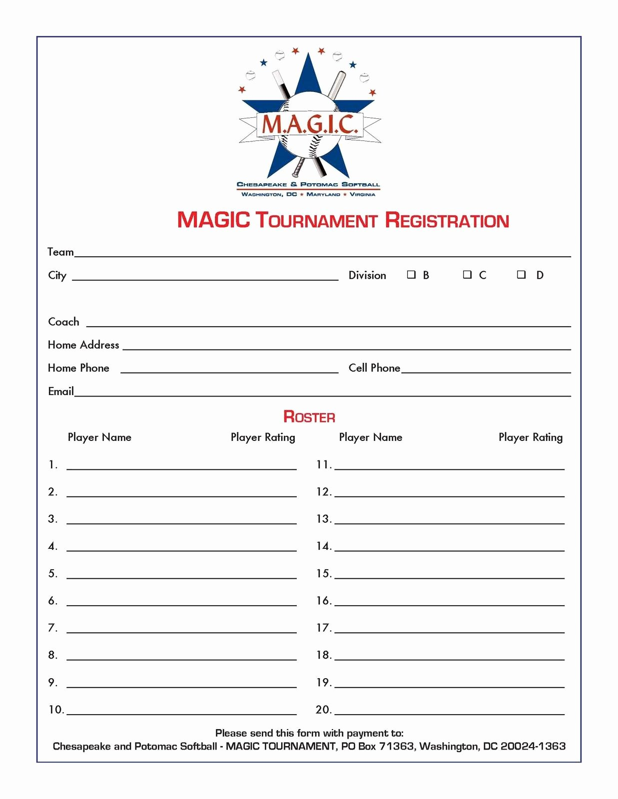 Registration forms Template Word Inspirational Luxury Printable Registration form Template