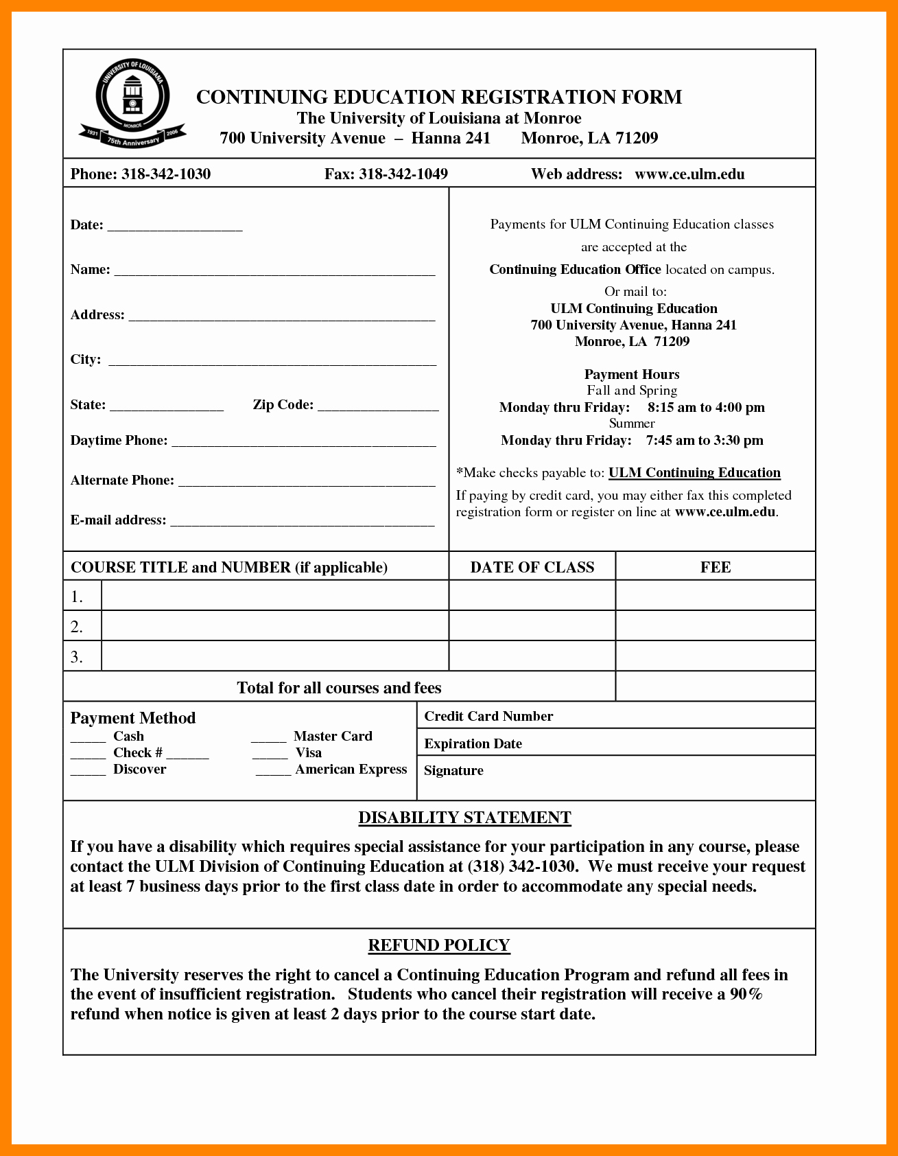 Registration forms Template Word Luxury 6 Student Registration form format