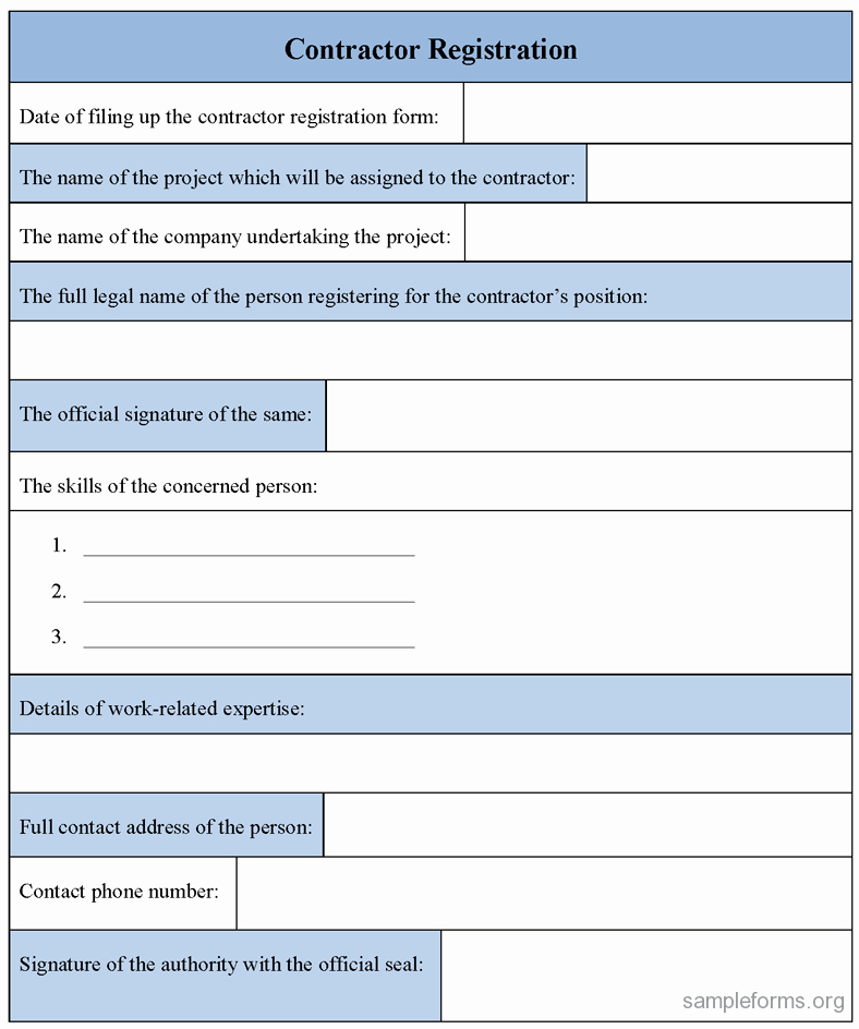 Registration forms Template Word New Registration form Template Excel
