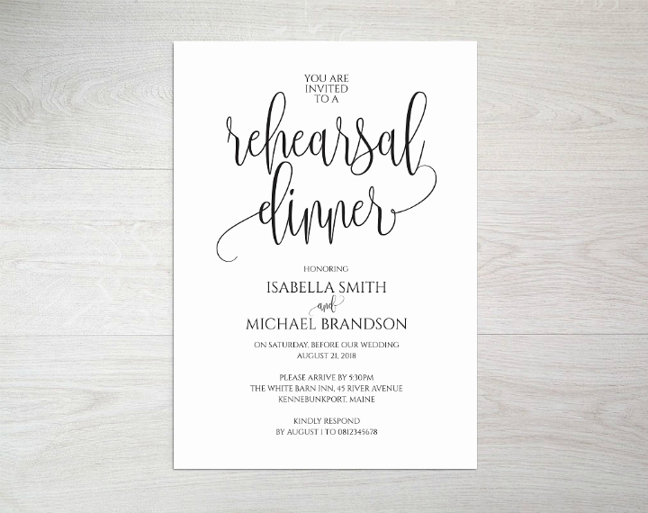 Rehearsal Dinner Invitation Template Best Of 14 Wedding Rehearsal Invitation Designs & Templates Psd