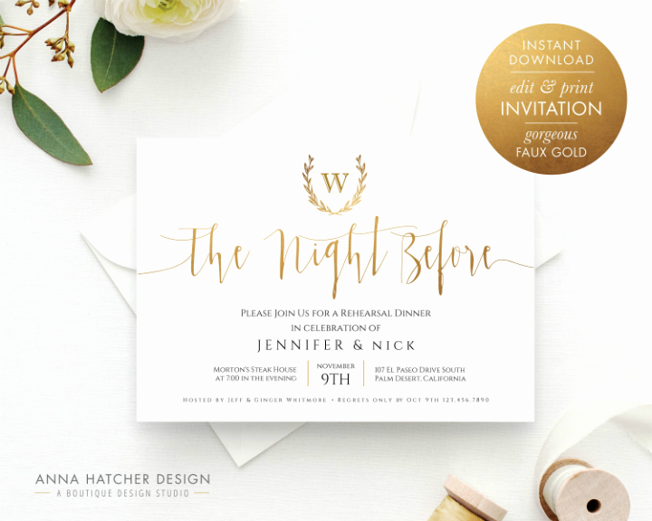 Rehearsal Dinner Invitation Template Fresh 14 Wedding Rehearsal Invitation Designs & Templates Psd