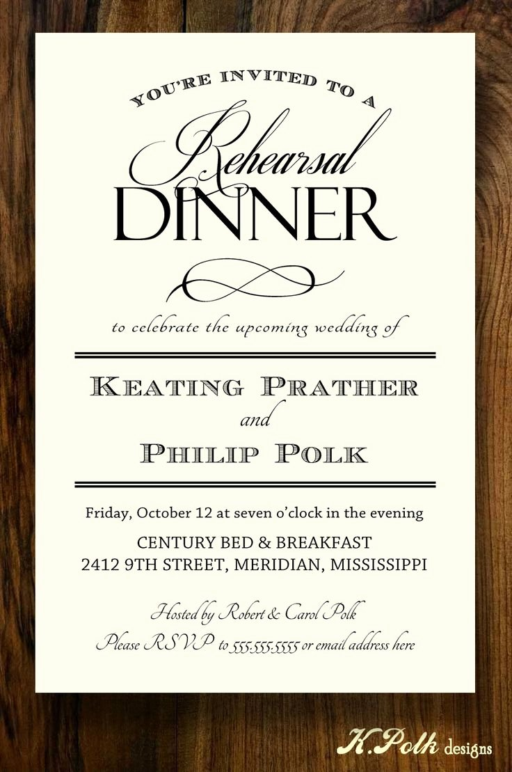 Rehearsal Dinner Invitation Template Fresh 42 Best Rehearsal Dinner Invites Images On Pinterest