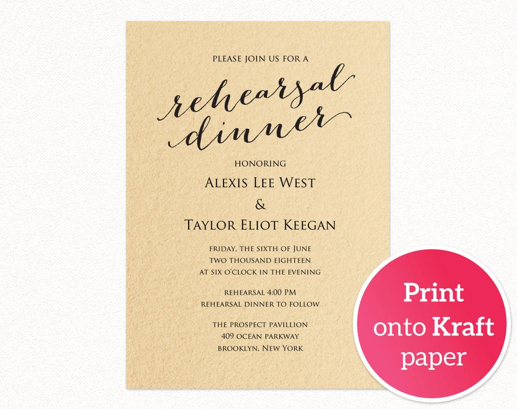 Rehearsal Dinner Invitation Template Fresh Rehearsal Dinner Invitation Template · Wedding Templates