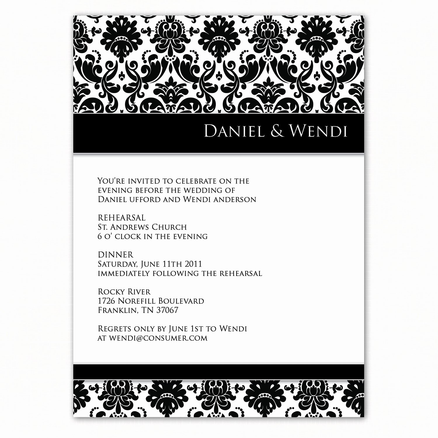 Rehearsal Dinner Invitation Template Inspirational Dinner Invite Quotes Quotesgram