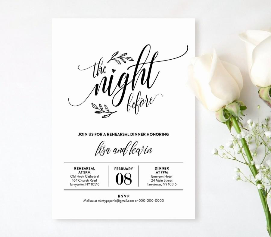 Rehearsal Dinner Invitation Template Inspirational Wedding Rehearsal Dinner Printable Diy Rehearsal