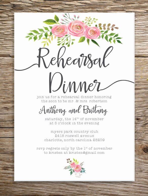 Rehearsal Dinner Invitation Template Luxury Dinner Invitation Template – 30 Free Psd Vector Eps Ai