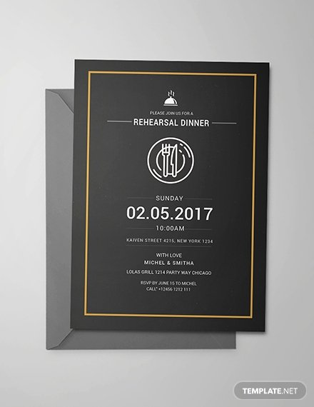 Rehearsal Dinner Invitation Template Luxury Free Rehearsal Dinner Party Invitation Template Download