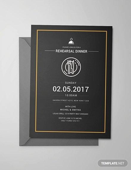 Rehearsal Dinner Invitation Template Luxury Free Rehearsal Dinner Party Invitation Template Download
