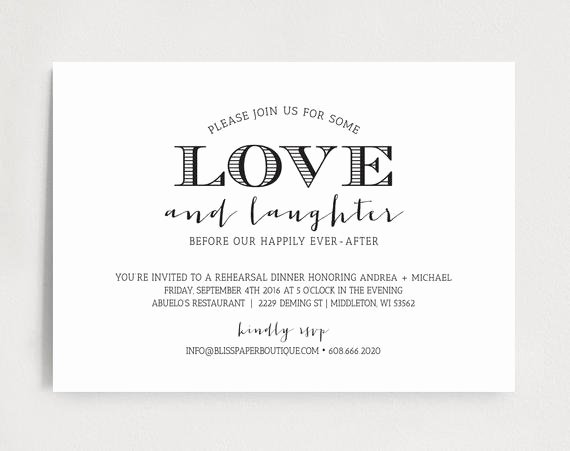Rehearsal Dinner Invitation Template New Rehearsal Dinner Invitation Wedding Rehearsal Dinner