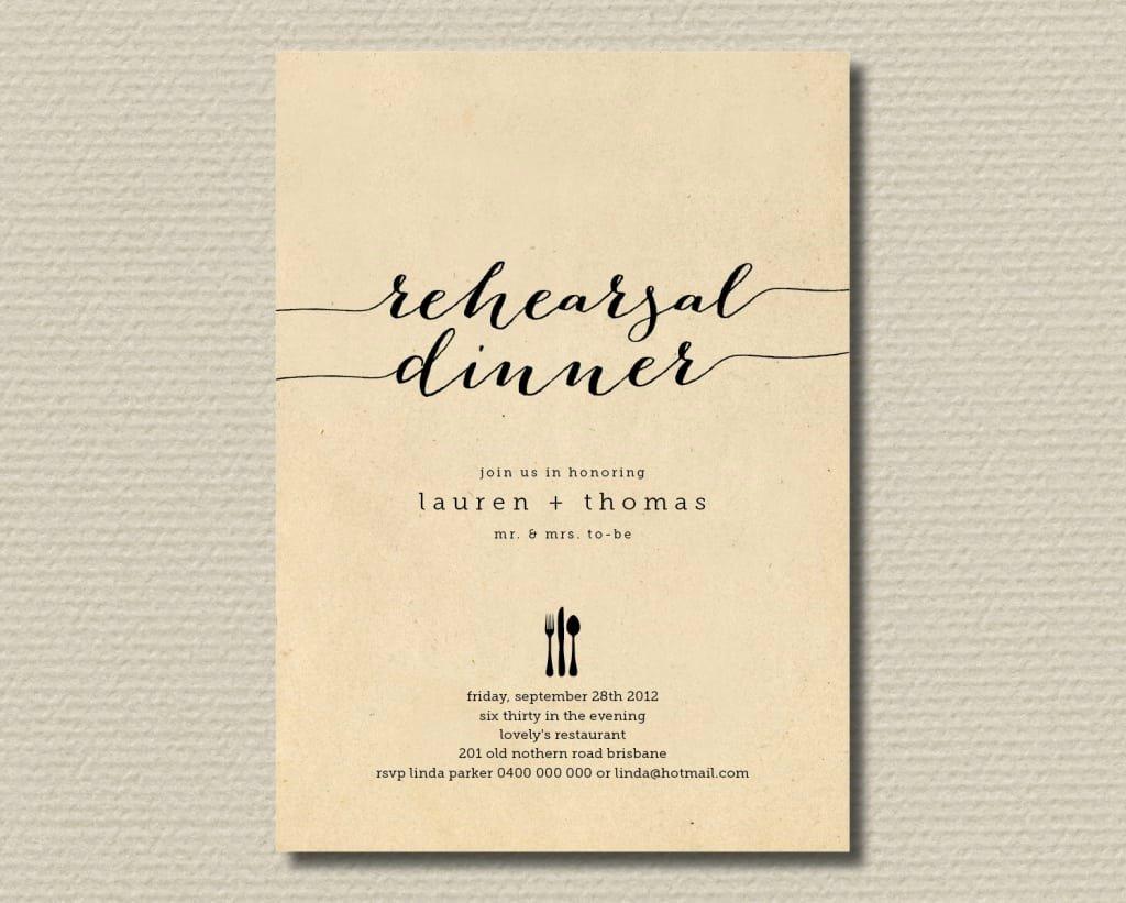 Rehearsal Dinner Invitation Template New Rehearsal Dinner Invite