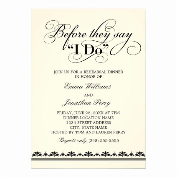 Rehearsal Dinner Invitation Template Unique 40 Wedding Invitation formats Psd Ai Vector Eps