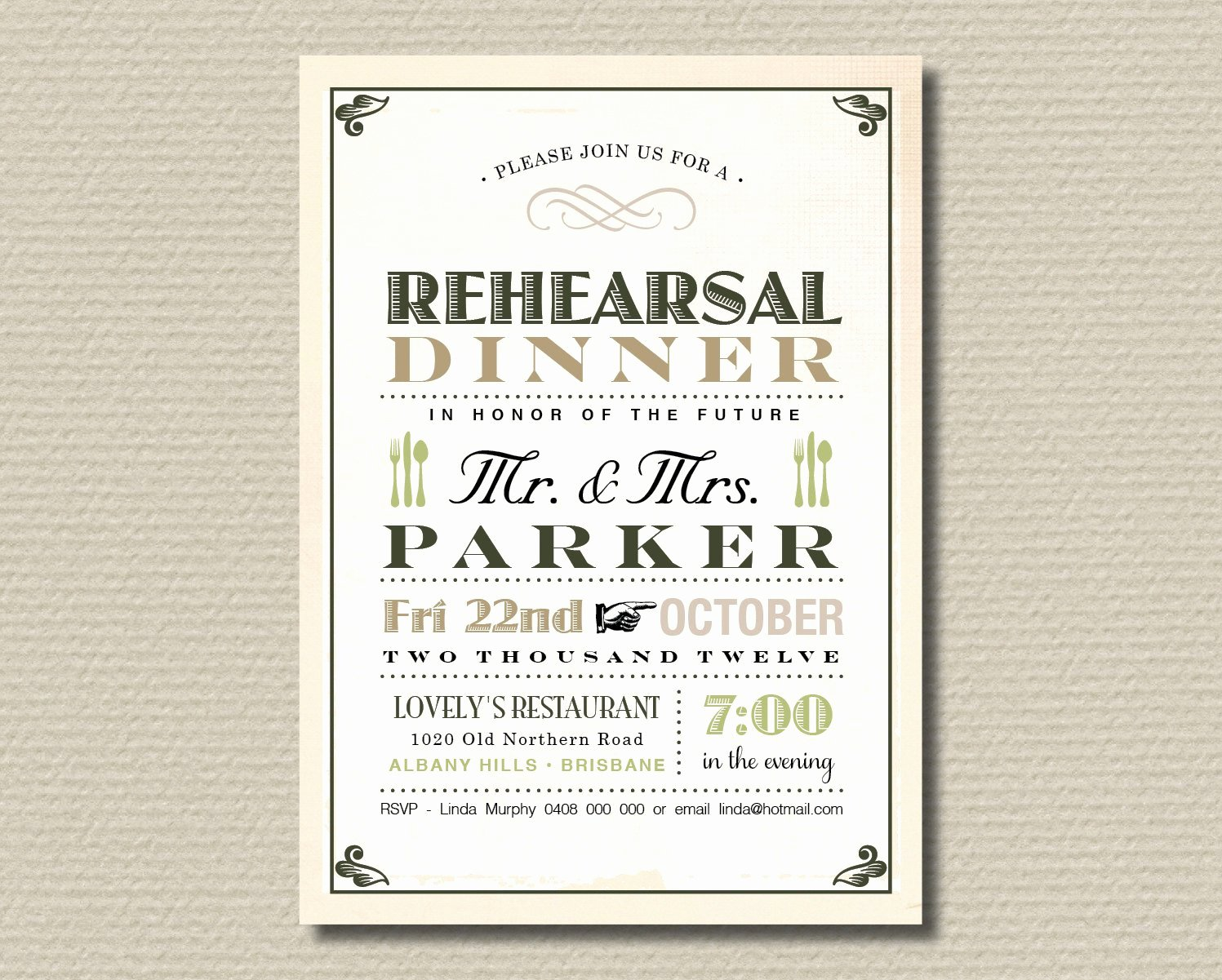Rehearsal Dinner Invitation Template Unique Rehearsal Dinner Invitation Template Free