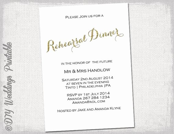 Rehearsal Dinner Invitation Template Unique Rehearsal Dinner Invitation Template Gold Glitter