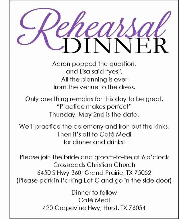 Rehearsal Dinner Invitation Template Unique Rehearsal Dinner Invite with Template Available