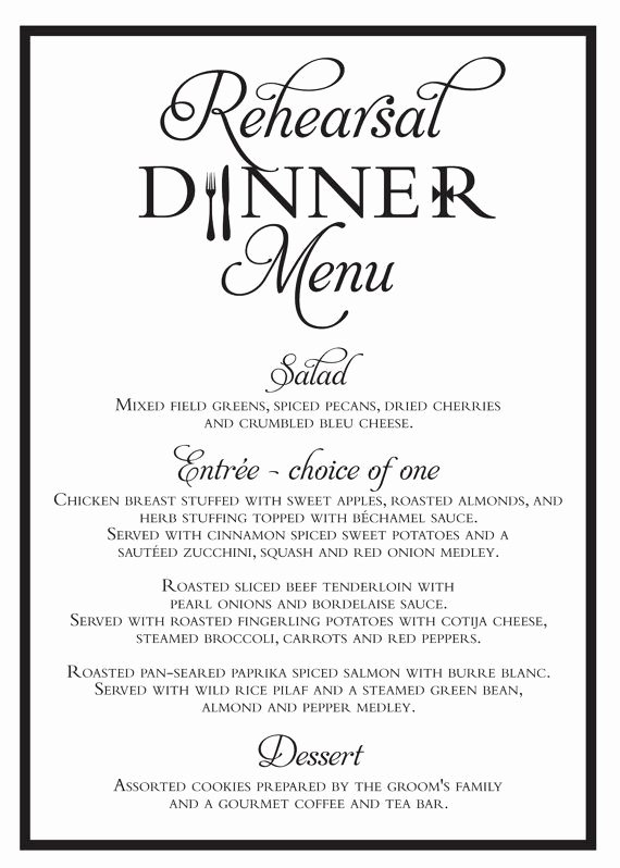 Rehearsal Dinner Menu Template Beautiful Best 25 Rehearsal Dinner Menu Ideas On Pinterest