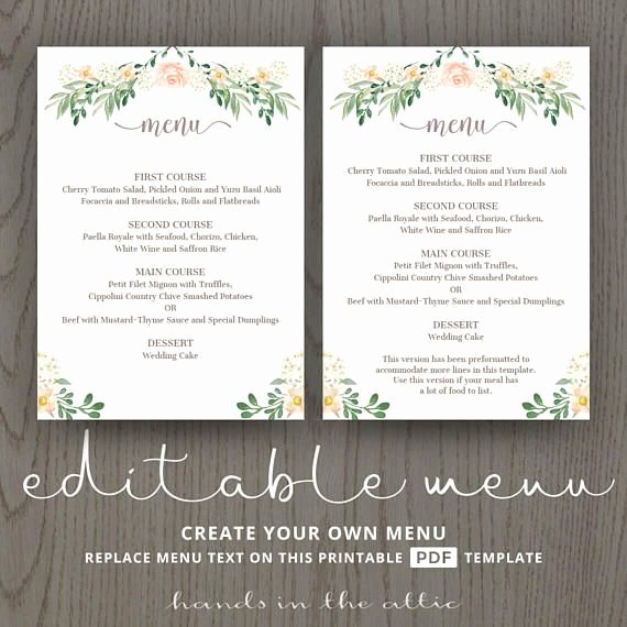 Rehearsal Dinner Menu Template Fresh Best 25 Rehearsal Dinner Menu Ideas On Pinterest
