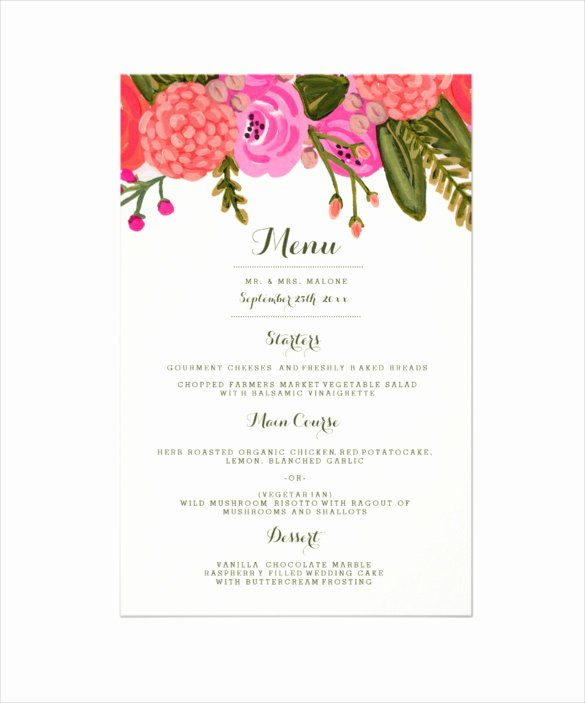 Rehearsal Dinner Menu Template Inspirational 30 Dinner Menu Templates Psd Word Ai Illustrator