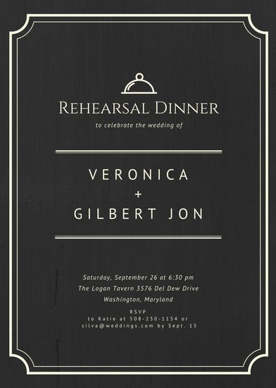 Rehearsal Dinner Menu Template Inspirational Customize 411 Rehearsal Dinner Invitation Templates