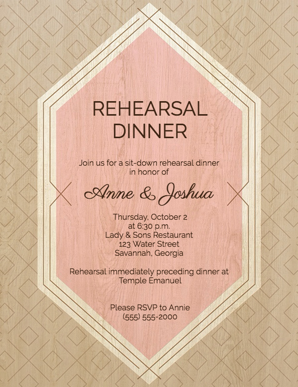 Rehearsal Dinner Menu Template Lovely Guide to Rehearsal Dinner Invitation Wording