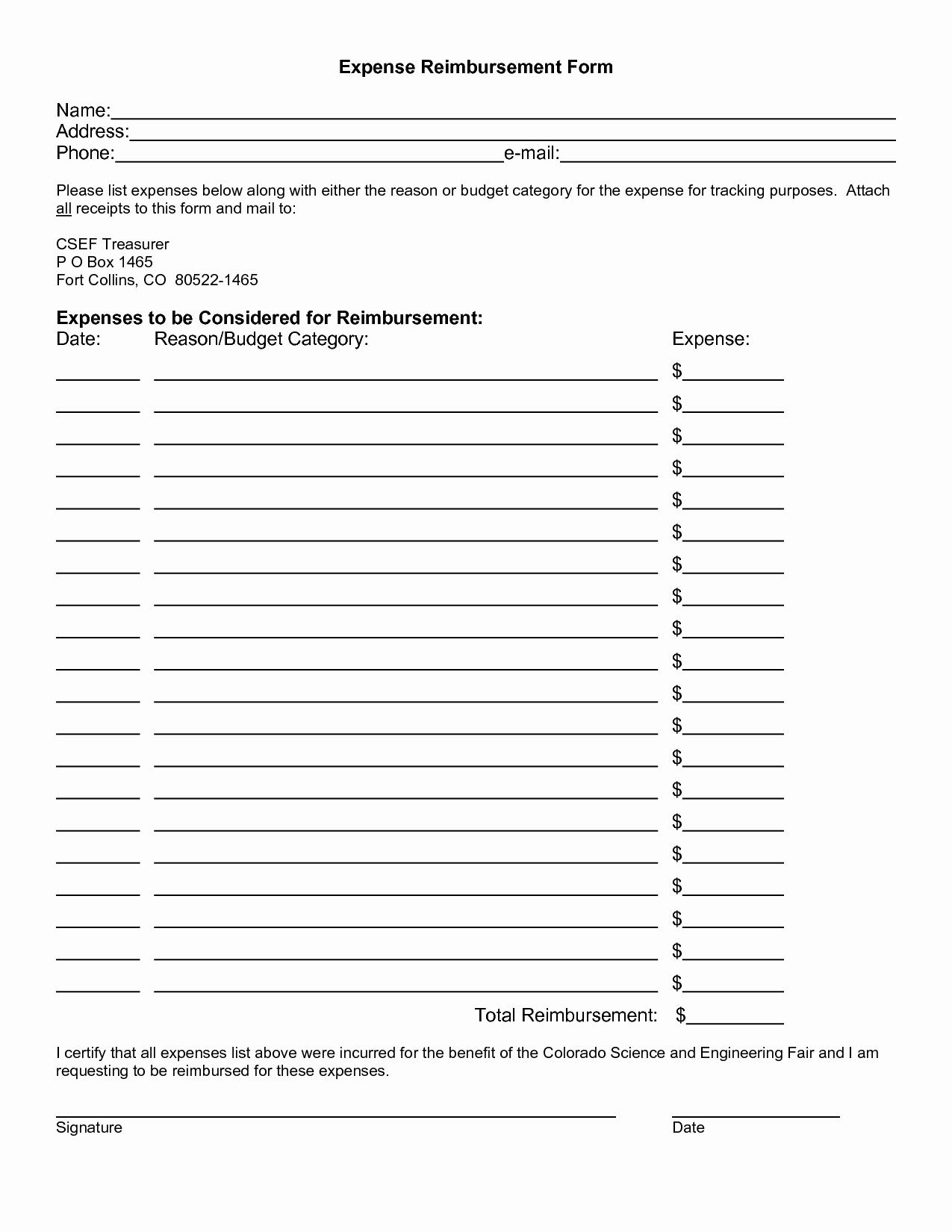 Reimbursement Request form Template Beautiful Expense Reimbursement Template Portablegasgrillweber
