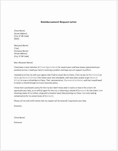 Reimbursement Request form Template Beautiful Reimbursement Request form & Letter Templates