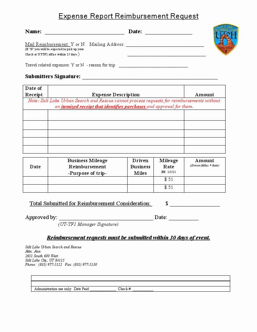 Reimbursement Request form Template Unique Easy to Use Travel Expense Report and Reimbursement