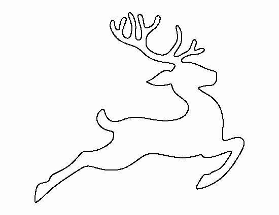 Reindeer Cut Out Template Beautiful Flying Reindeer Pattern Use the Printable Outline for
