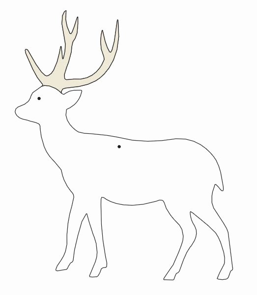 Reindeer Cut Out Template Beautiful Templates Reindeer Search Results