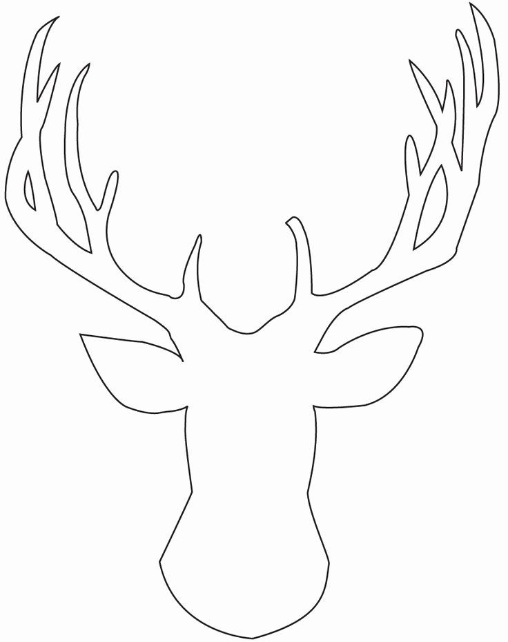 Reindeer Cut Out Template Best Of 25 Best Ideas About Deer Head Silhouette On Pinterest