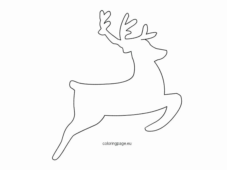 Reindeer Cut Out Template Inspirational Deer Head Silhouette Printable Stag Template Reindeer