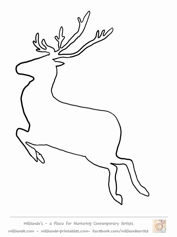 Reindeer Cut Out Template Luxury Reindeer Cut Out Template Invitation Template