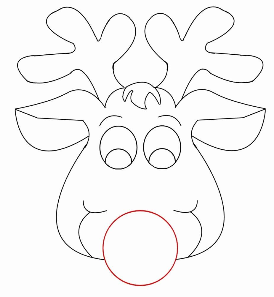 Reindeer Template Cut Out Best Of Maski Z Papieru Święta Bożego Narodzenia Do Wycinania
