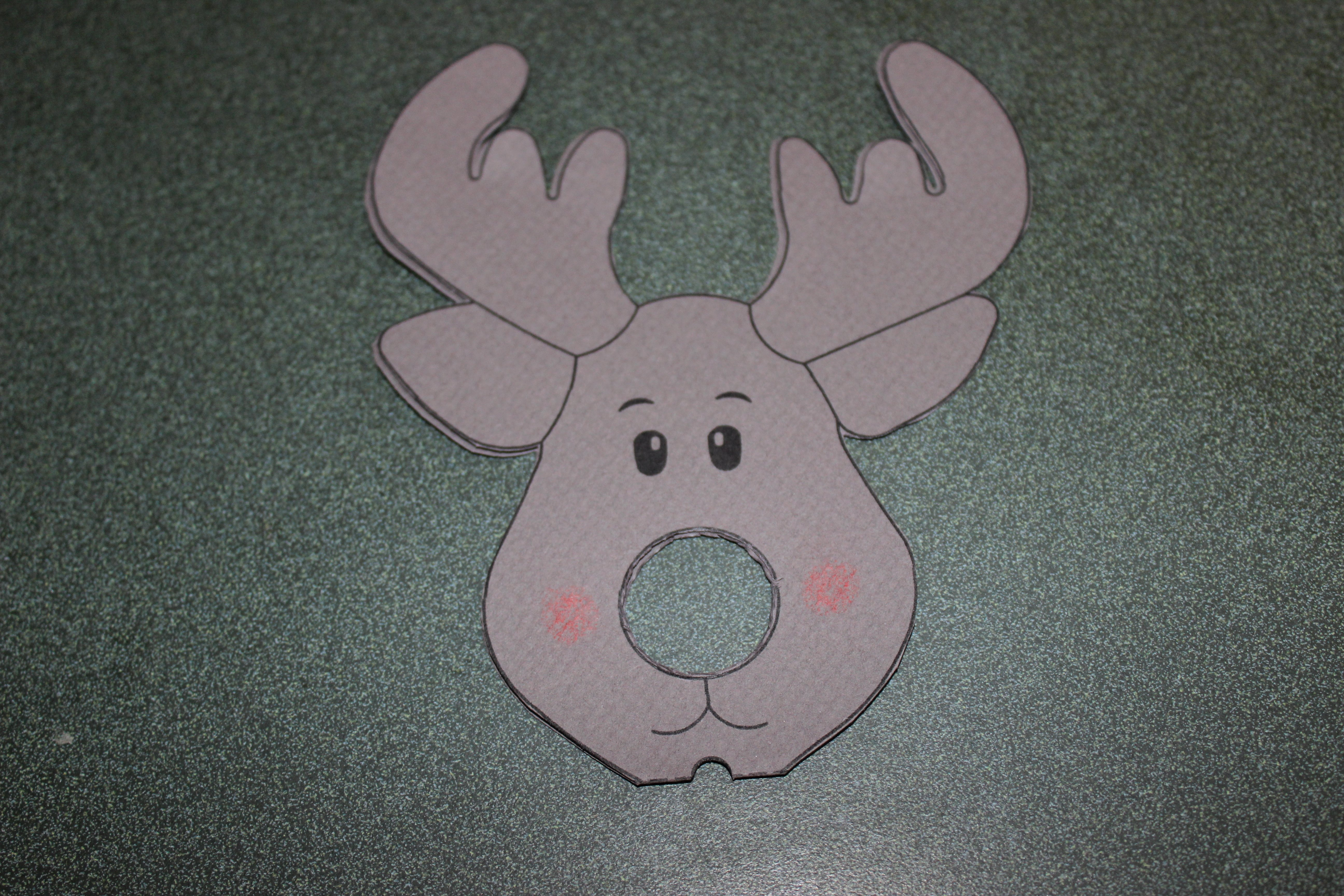 Reindeer Template Cut Out Elegant Reindeer Lollipop Card Tutorial