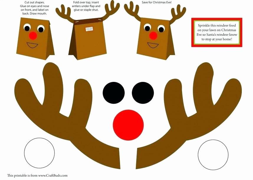 Reindeer Template Cut Out Fresh Reindeer Template Image 0 Free Reindeer