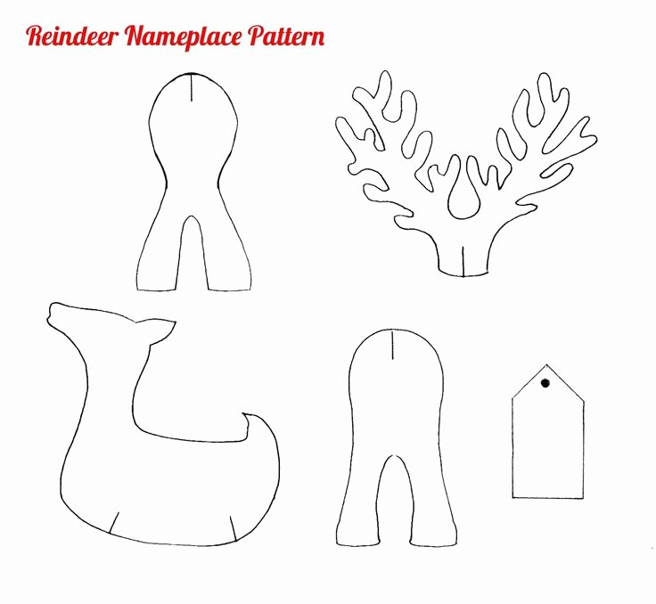 Reindeer Template Cut Out New Paper Reindeer Pattern Christmas Shapes Google Search