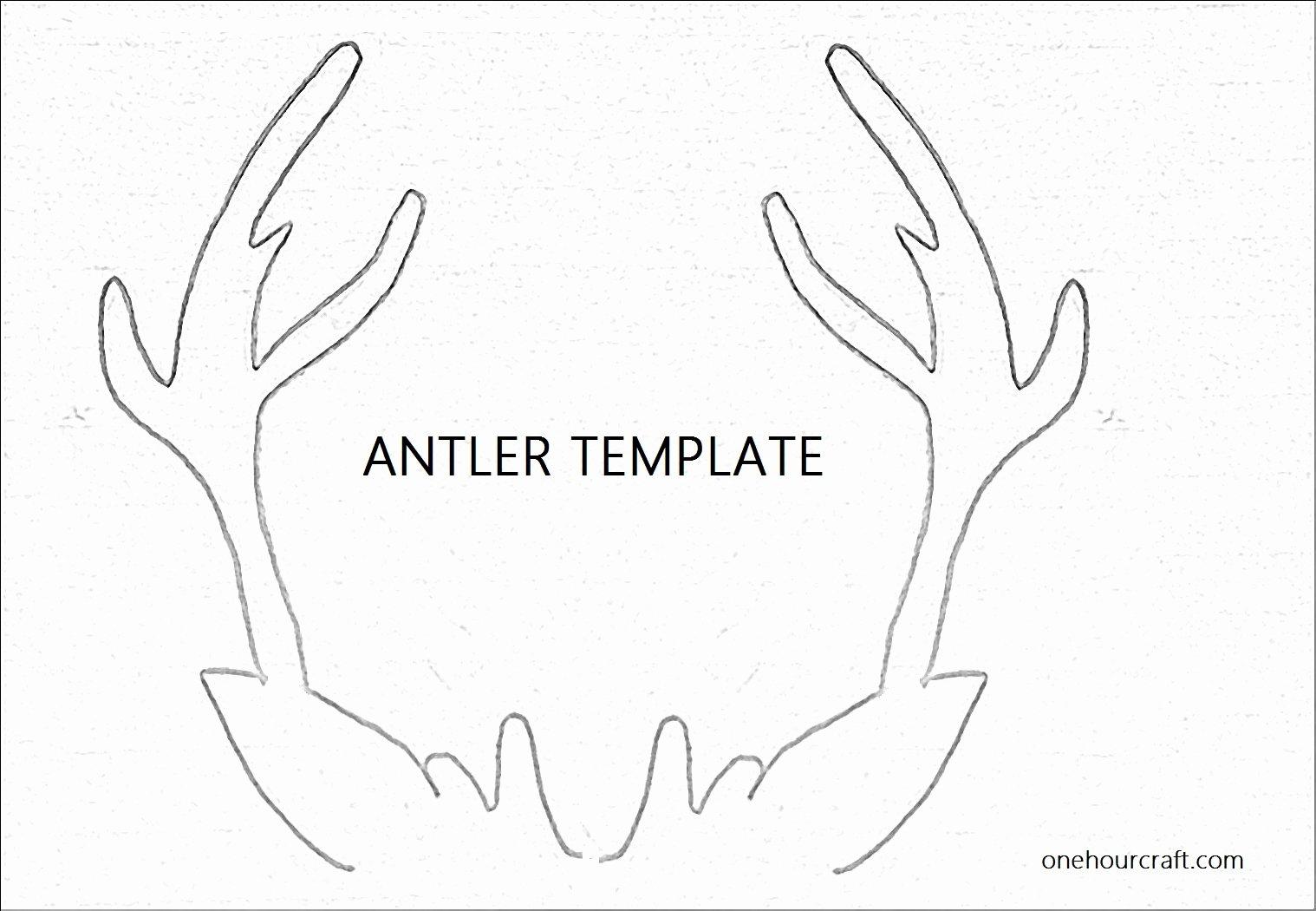 Reindeer Template Cut Out Unique 6 Best Of Antler Pattern Printable Free Reindeer