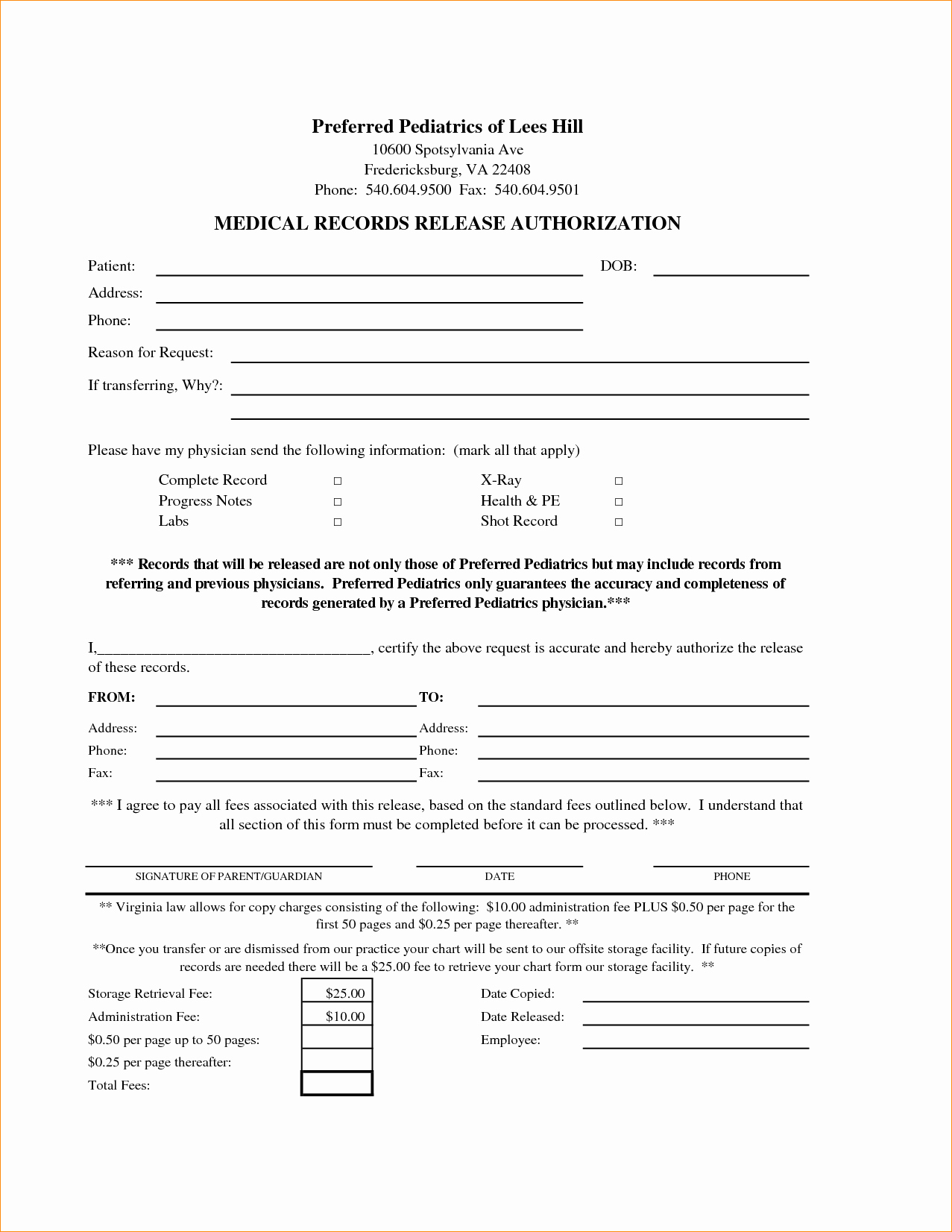 Release Of Information Template Unique Medical Consent Release form Seatle Davidjoel