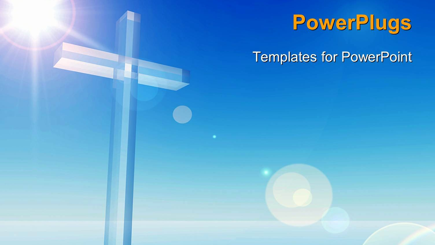 Religious Power Point Template Unique Powerpoint Template A Bluish Background with A Cross 6943