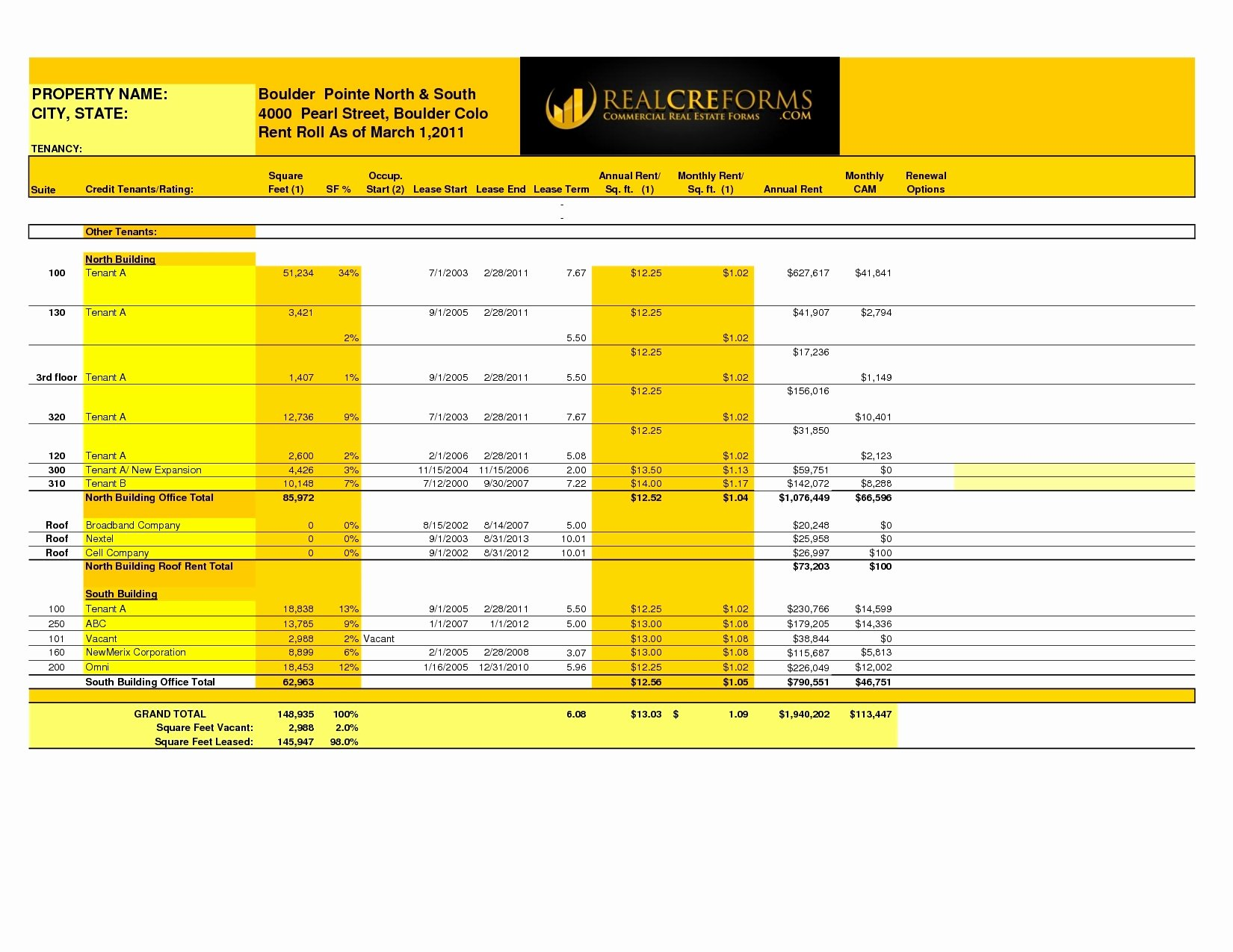 Rent Collection Spreadsheet Template Inspirational Rent Roll Excel Spreadsheet