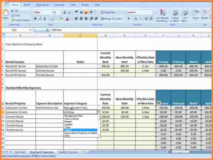 Rent Collection Spreadsheet Template Unique 7 Rent Collection Spreadsheet